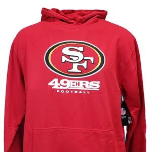 San Francisco 49ers Red Majestic NFL Hoodie